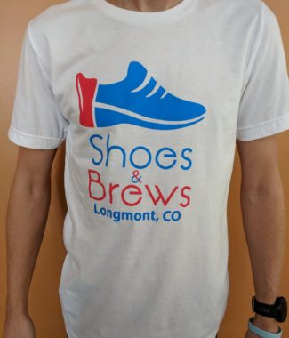 White Shoes & Brews logo shirt front