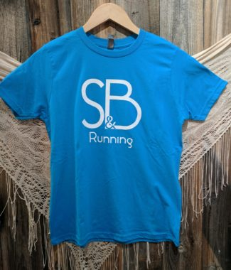Kids Blue S&B Running Shirt Front