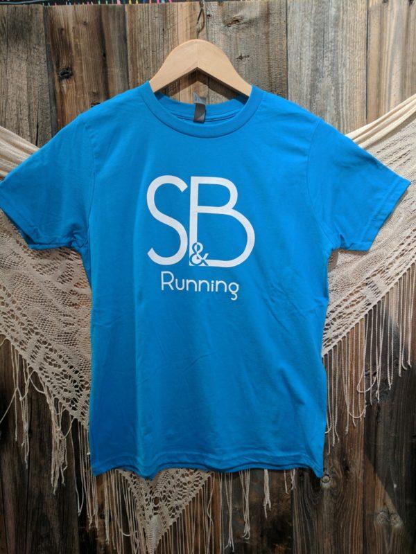 Kids Blue S&B Running Shirt Front
