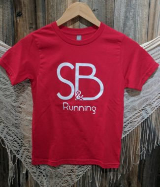 Kids Red S&B Running Shirt Front