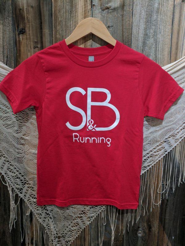 Kids Red S&B Running Shirt Front